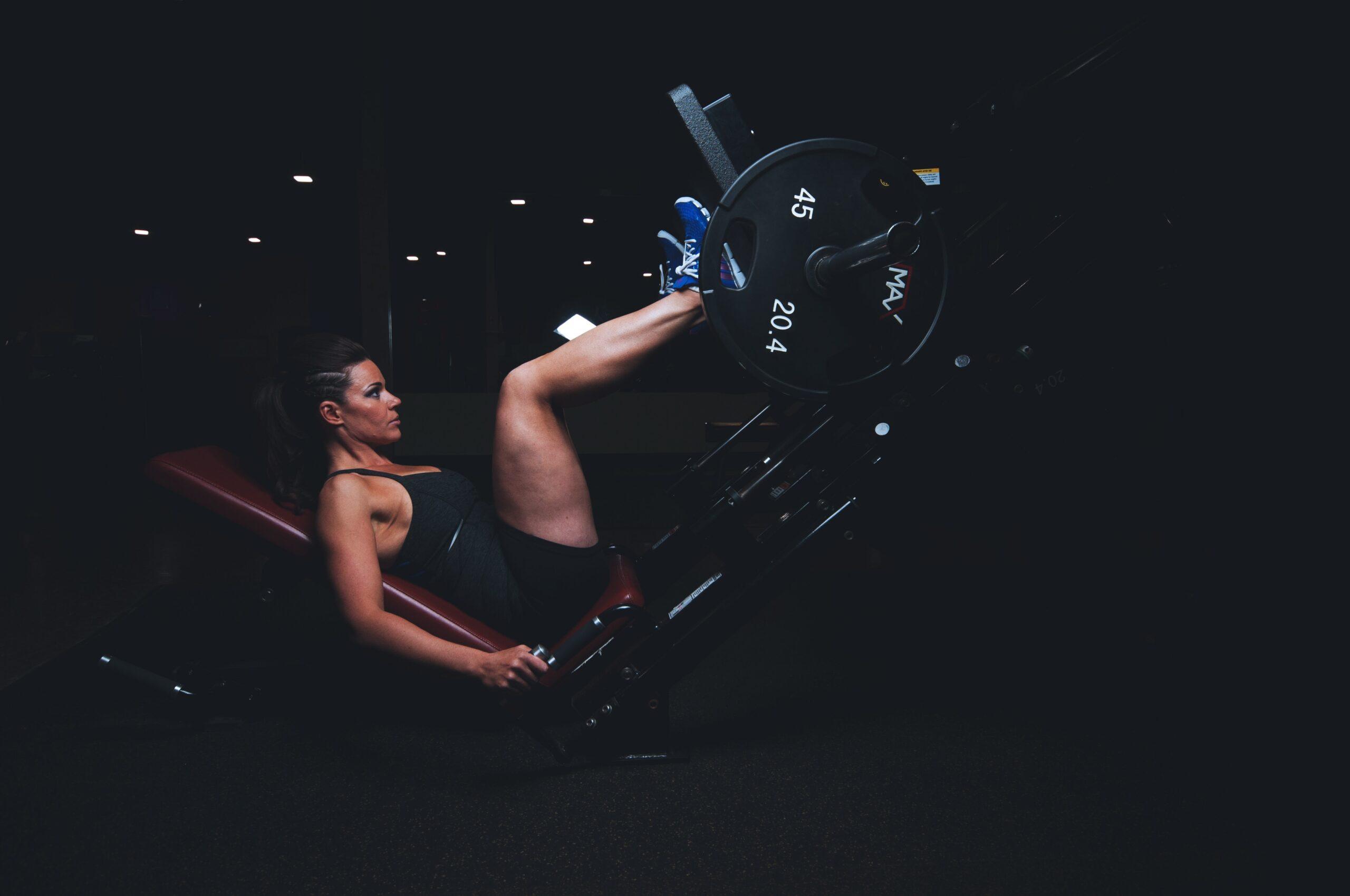 Leg press workout